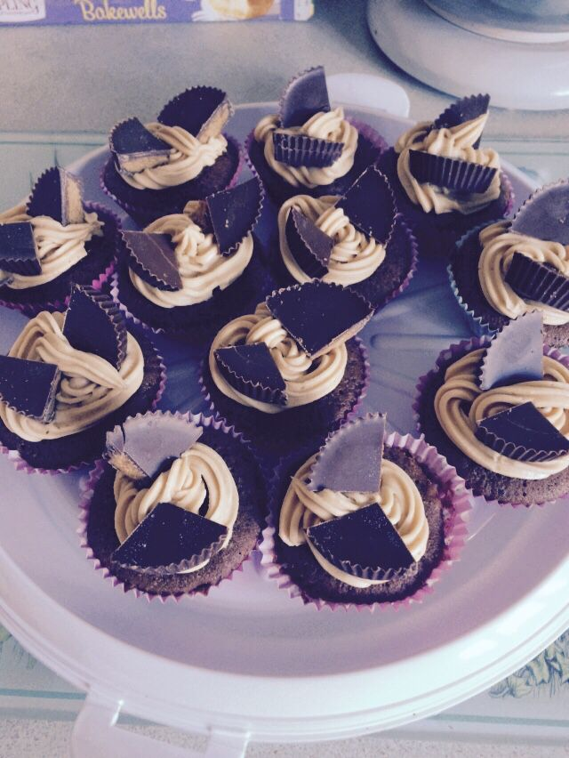 Peanut butter cupcakes!