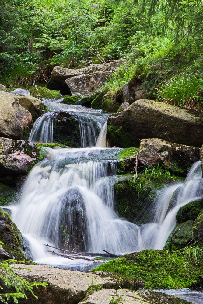 Der Bode-Wasserfall in der Nähe von Braunlage im Harz