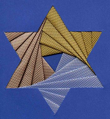 folded star quilt pattern | Iris Folding @ CircleOfCrafters.com: Make an Iris Folded Star of David