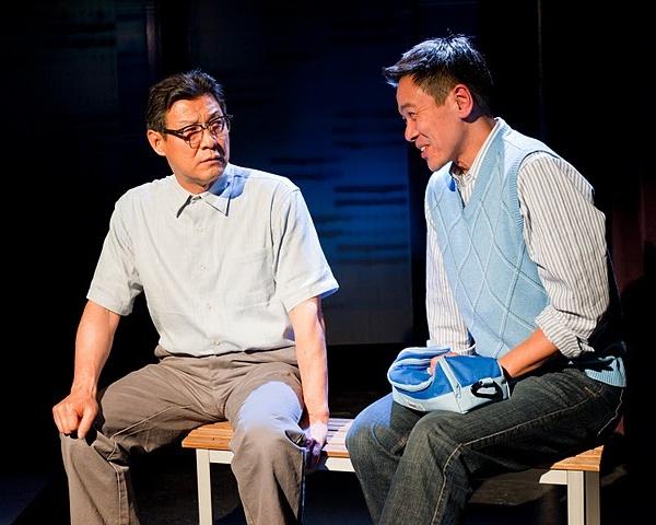 Off-Broadway production by the National Asian American Theatre Company (NAATCO) March 2011 at Cherry Lane Studio Theatre.  Director:  Maureen Payne-Hahner    Cast:   Joel de la Fuente, James Saito  ****