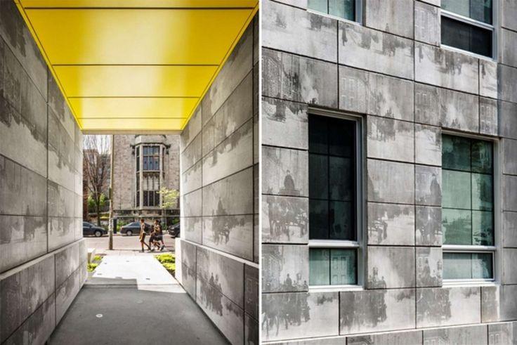 Photoengraving Brings a Concrete Facade to Life