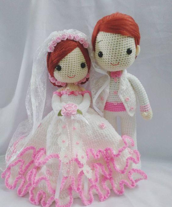 boda-novia-novios-crochet-otakulandia.es- (7) | muñecas