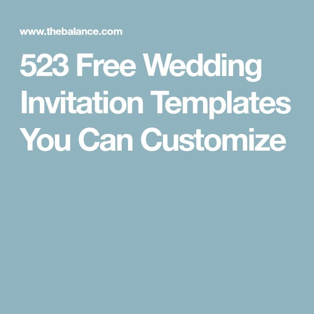 523 Free Wedding Invitation Templates You Can Customize