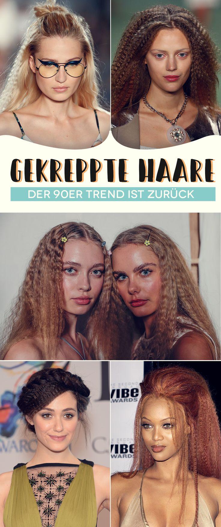 Der Haartrend der 90er Jahre ist wieder da: Krepphaare. Wie es jetzt zu stylen! – Haare – Alles für eine gesunde Mähne