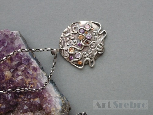 ,,coral reef''-silver pendant