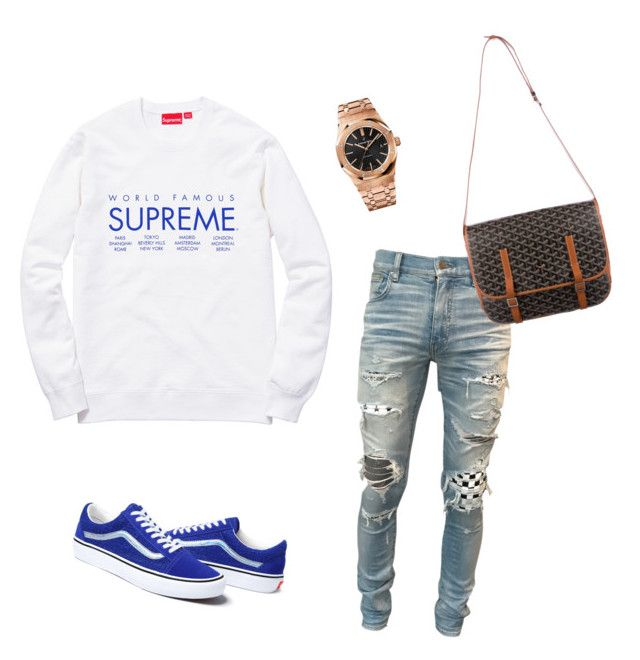 """""""Untitled #565"""" by aintdatjulian on Polyvore featuring Champion, AMIRI, Audemars Piguet, Goyard, men's fashion and menswear"""