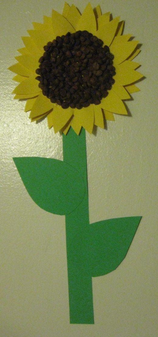 Preschool Craft: Sunflowers - Free printable template ...