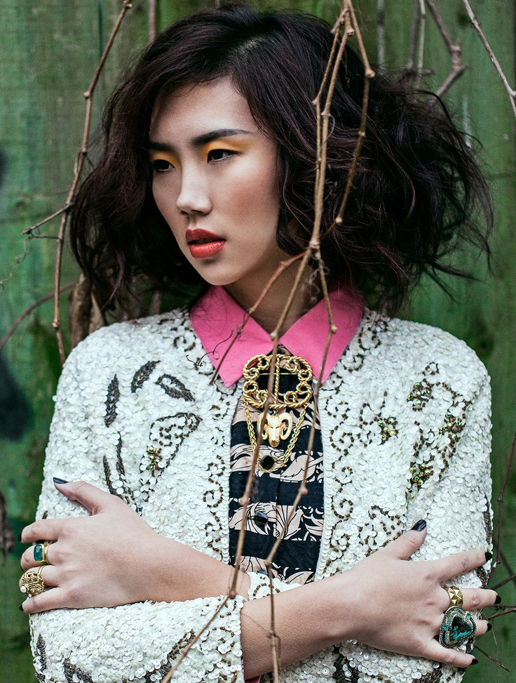 Editorial for Hendrix & Cash vintage collection Photographer: Yan Bleney Styled by Thao Make up & Hair by Fang Zhao Model Qing Qing