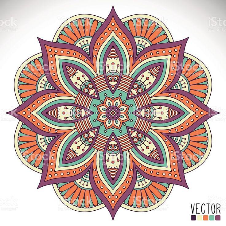 Mandala vetor e ilustração royalty-free royalty-free
