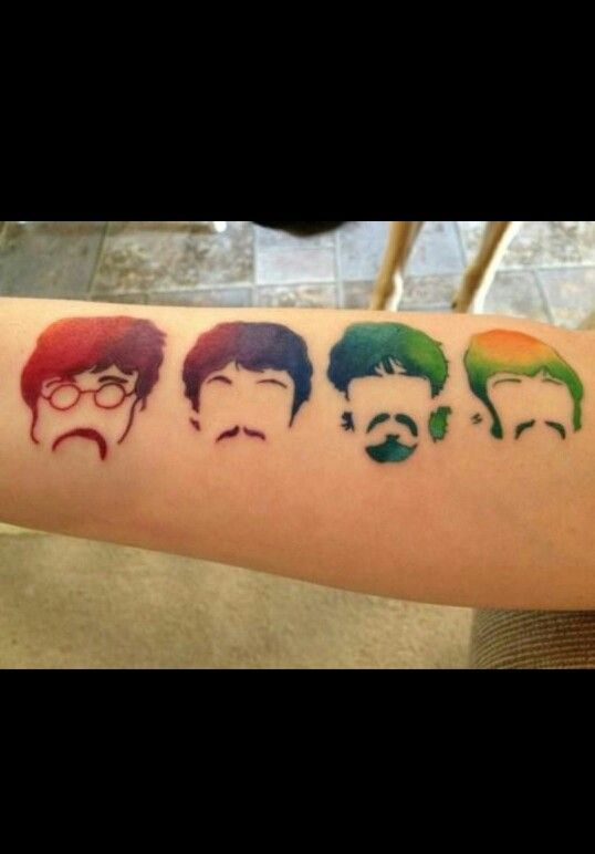 Okay. One, I love the Beatles so I love this. But it's actually a really similar idea to what I want for Paramore tat.