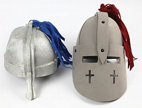 how to make a helmet for a knight