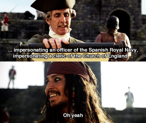 Pirates of the Caribbean: The Curse of the Black Pearl. Hahahaha!