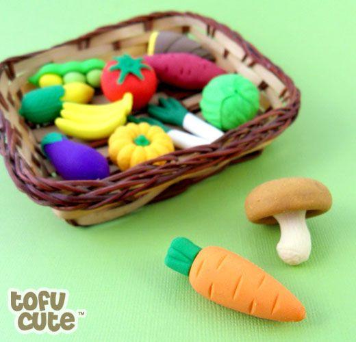 No tengo todos estos modelos de verduras! Los necesito en mi colleccion -Tofu Cute