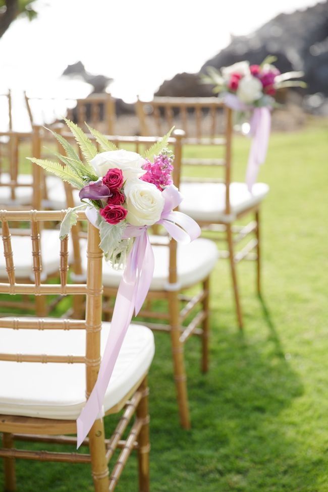Fruitwood Chiavari Chairs By Hawaiian Style Event Rentals For A Maui Wedding
