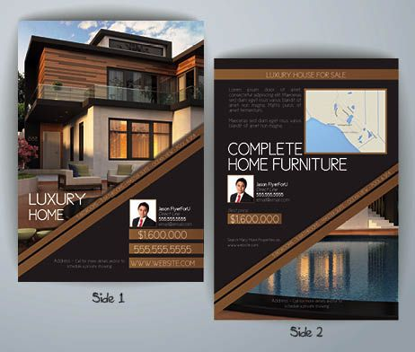 Unique And Design Luxury Real Estate Flyer Template All Brown Colors This With Warn Will Seduce Your Customers