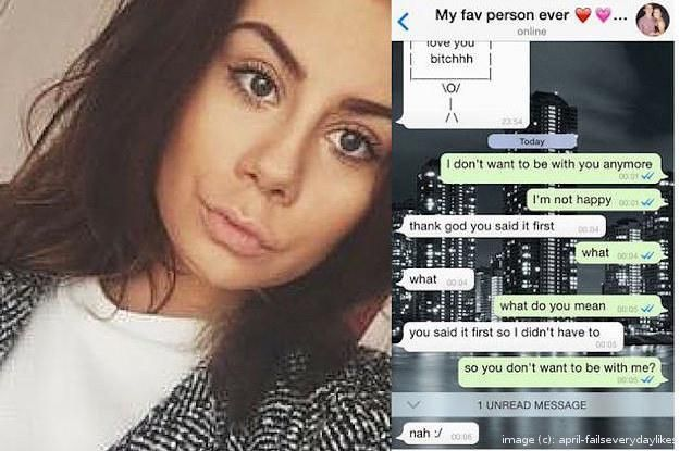 A Teen Pretended To Dump Her Boyfriend For April Fools' Day......... But It Totally Backfired1
