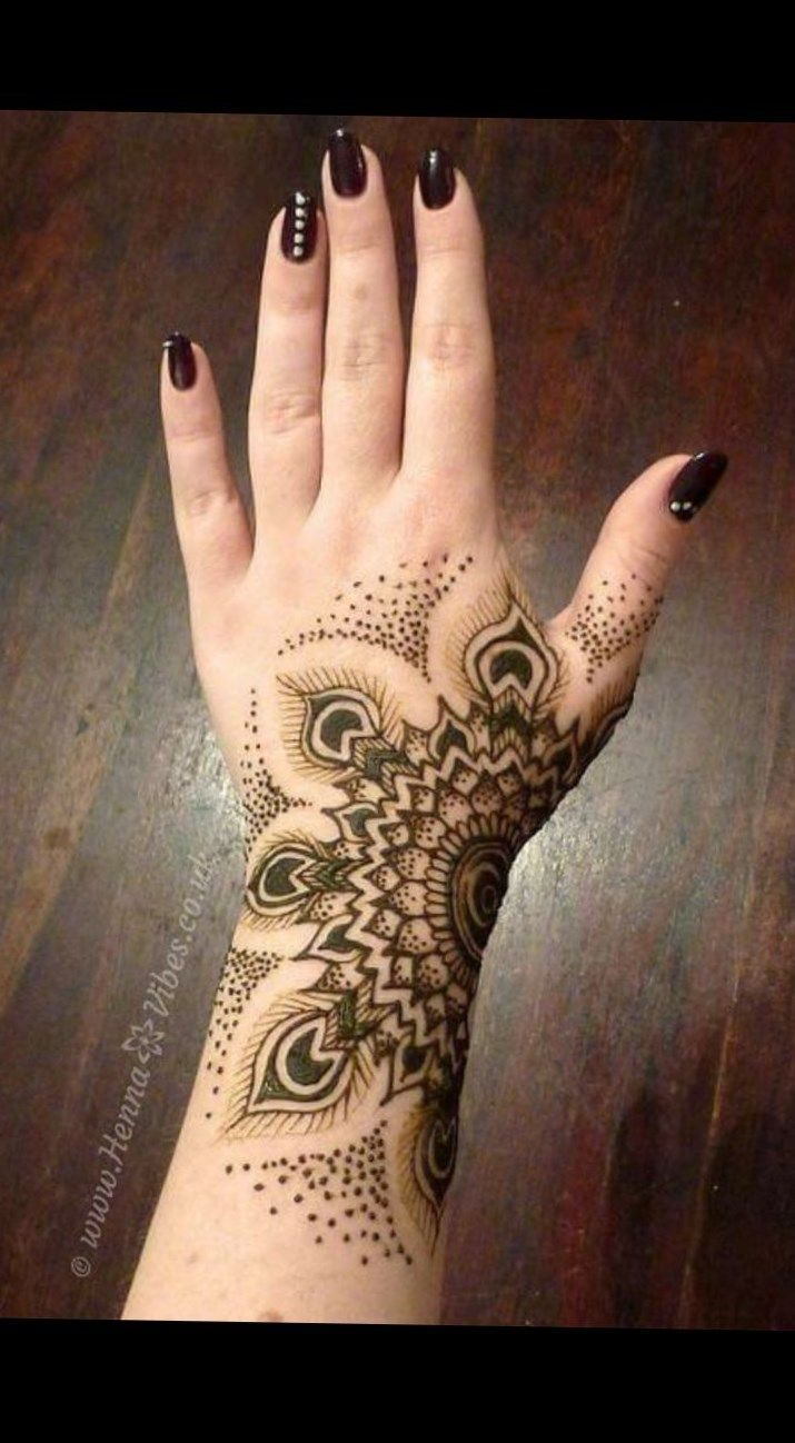 Henna Tattoo Rose On Hand Rose Tatoo