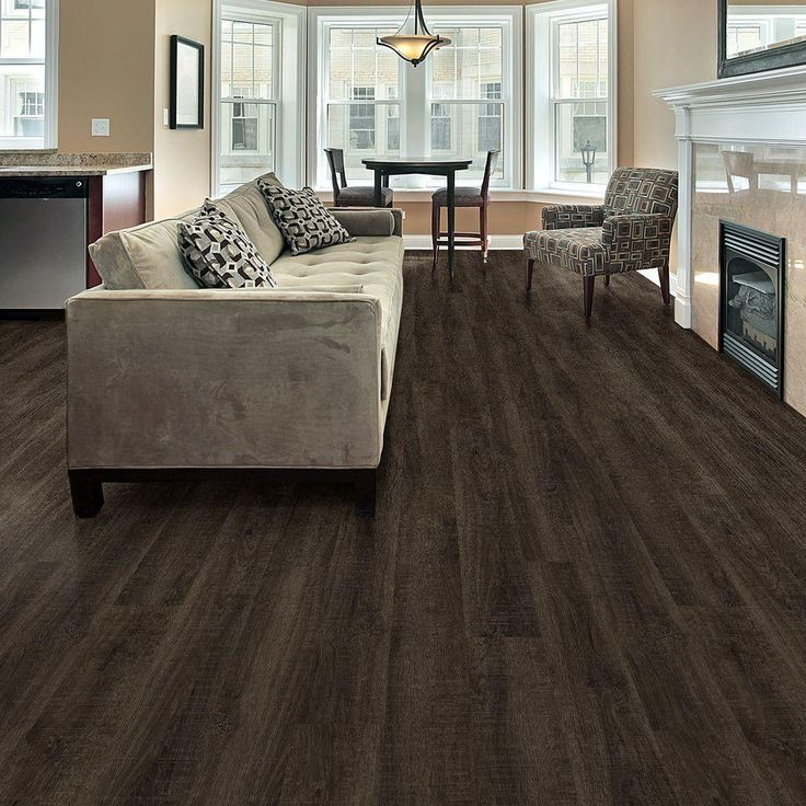 Add A Warm Comfortable Style Of Real Wood To Your Living Space By Choosing This TrafficMASTER Allure Clarksville Oak Luxury Vinyl Plank Flooring