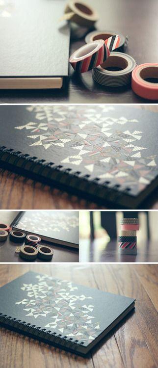 washi tape sketchbook design
