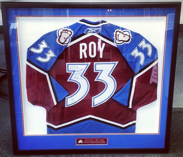 custom framed patrick roy authentic colorado avalanche hockey jersey