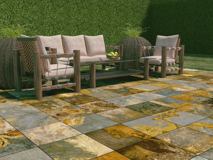 Interceramic slate supremo patios pinterest ideas - Azulejos para patio ...