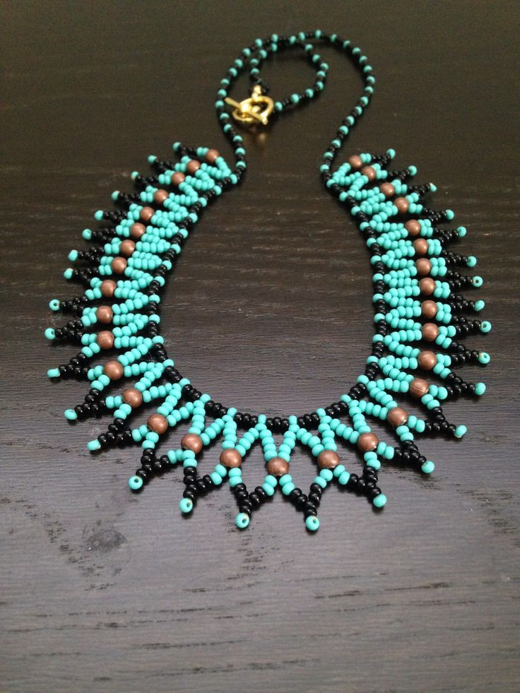 Turquoise Netted Necklace by TheLazyGiraffeNY on Etsy https://www.etsy.com/listing/187817830/turquoise-netted-necklace