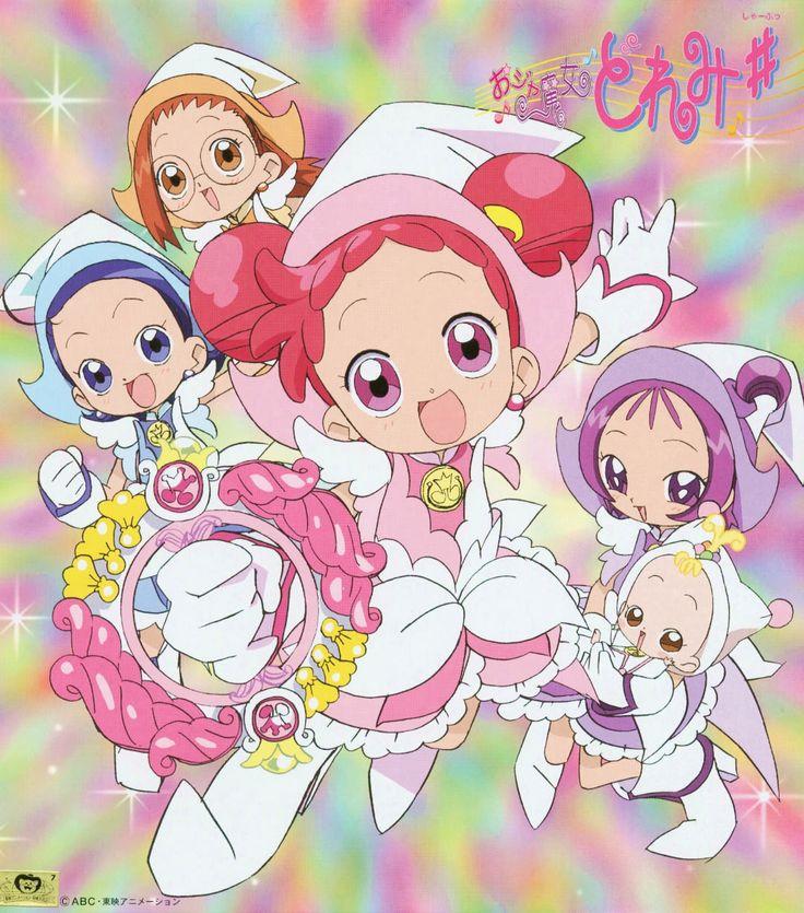 Tags: Ojamajo DoReMi, Harukaze Doremi, Senoo Aiko, Fujiwara Hazuki, Segawa Onpu, Scan, Makihatayama Hana, Official Art