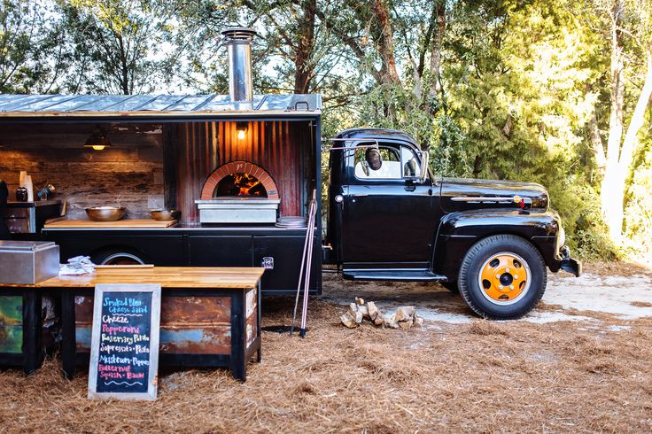 Coastal Crust mobile pizza eatery in a very cool truck.