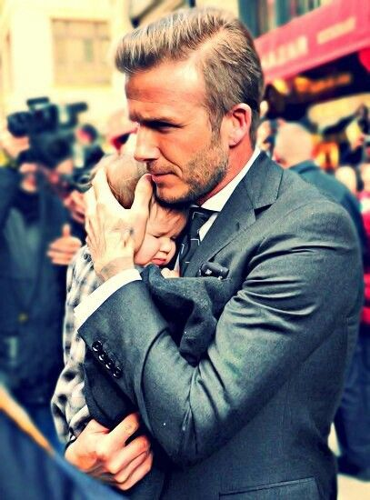 Cause nothing's hotter than David Beckham with a baby