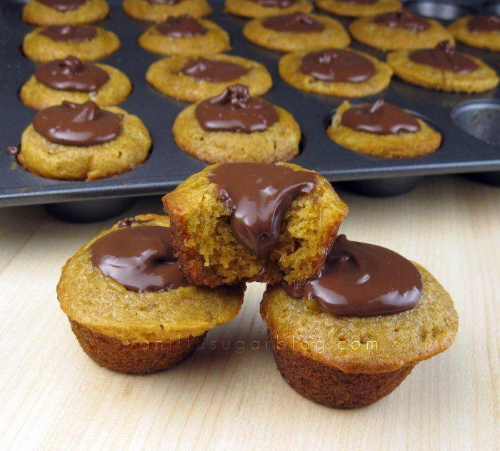 Pumpkin Nutella mini cakes