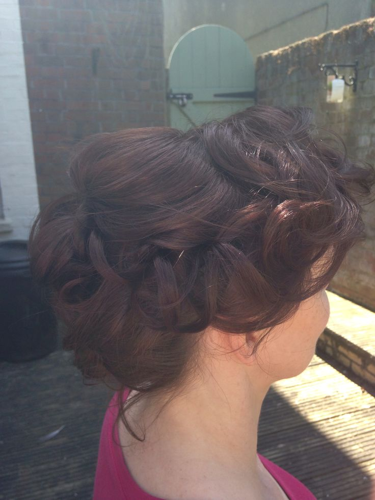 Mid length pin curl do by occasion hair design