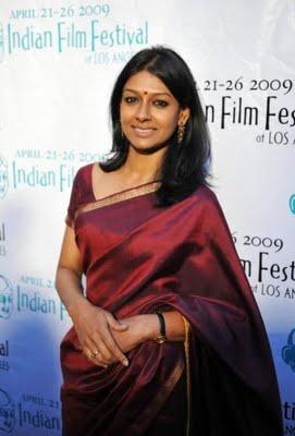 Thin Sarees | Nandita Das in Maroon Silk Saree | sareetimes