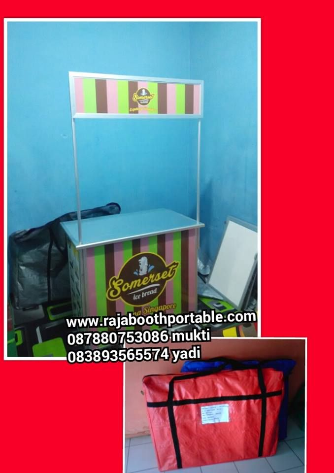 booth portable / gerobak bongkar pasang untuk usaha makanan dan minuman maupun pameran. www.rajaboothportable.com