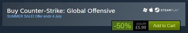 Valve explains why Counter-Strike: Global Offensive isn't giftable during Steam sale
