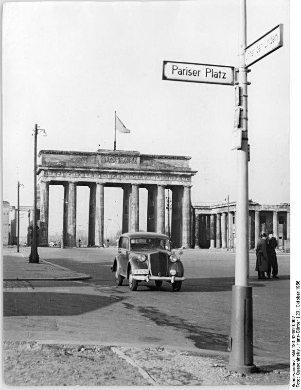 1956 Brandenburger Tor Berlin Berlin Germany Brandenburg Gate