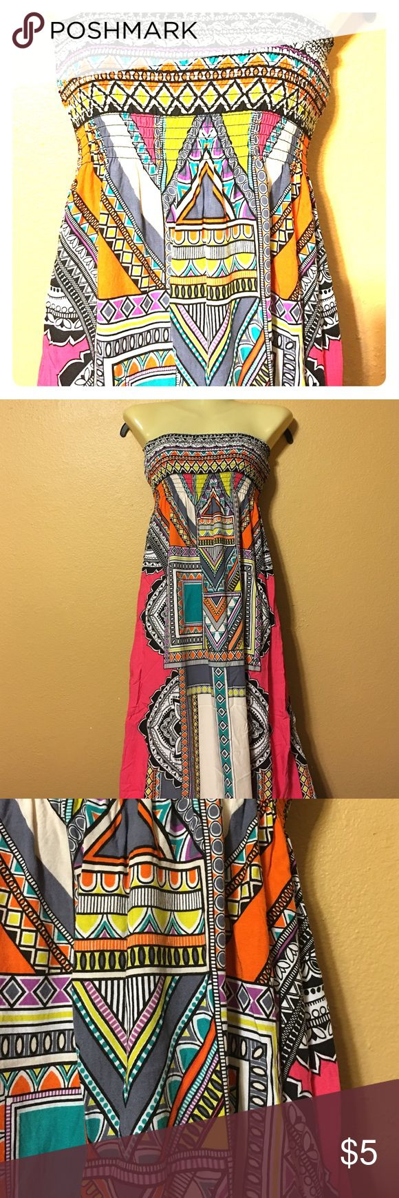 Tube top tribal maxi dress Tube top with a colorful tribal pattern maxi dress. Dresses Maxi