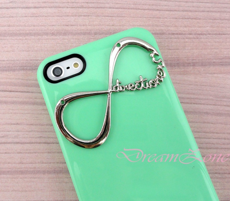 One Direction Iphone 5 Case, Iphone 5 case, Directioner Infinity Hard Case, Light Green iphone 5 case. $7.99, via Etsy.