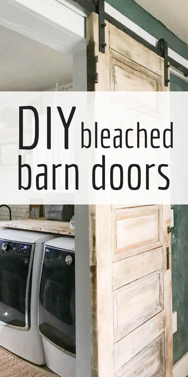 bleached wood barn doors bhg s best diy ideas wood barn door rh pinterest com