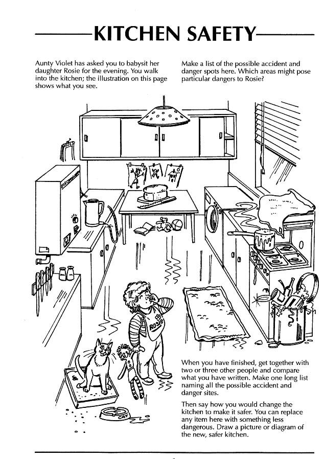 safety in the home worksheets kitchen - Google Search