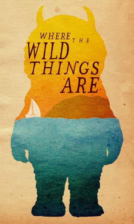 A minimalistic poster design for Where the Wild Things Are