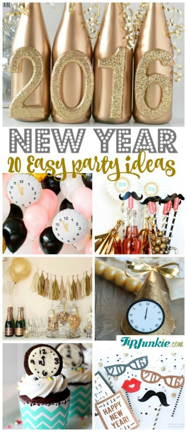 20 Easy New Year Eve party ideas