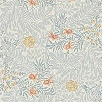 The Original Morris & Co - Arts and crafts, fabrics and wallpaper designs by William Morris & Company | Products | British/UK Fabrics and Wallpapers | Larkspur (DARW212556) | Morris Archive Wallpapers II