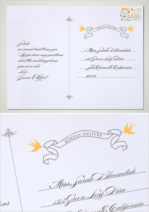 17 Best images about Wedding Stationary – Free Postcard Templates Download