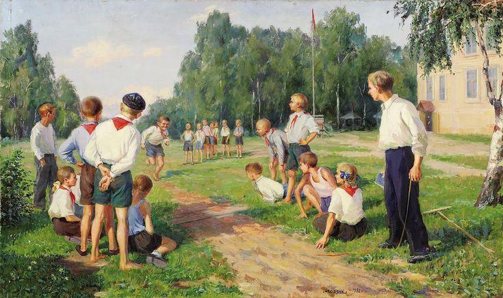 Sport day (День спорта, 1952) Ivan Aleksandrovich Kozlov (Иван Александрович Козлов. Unión Soviética. Rusia, 1920)