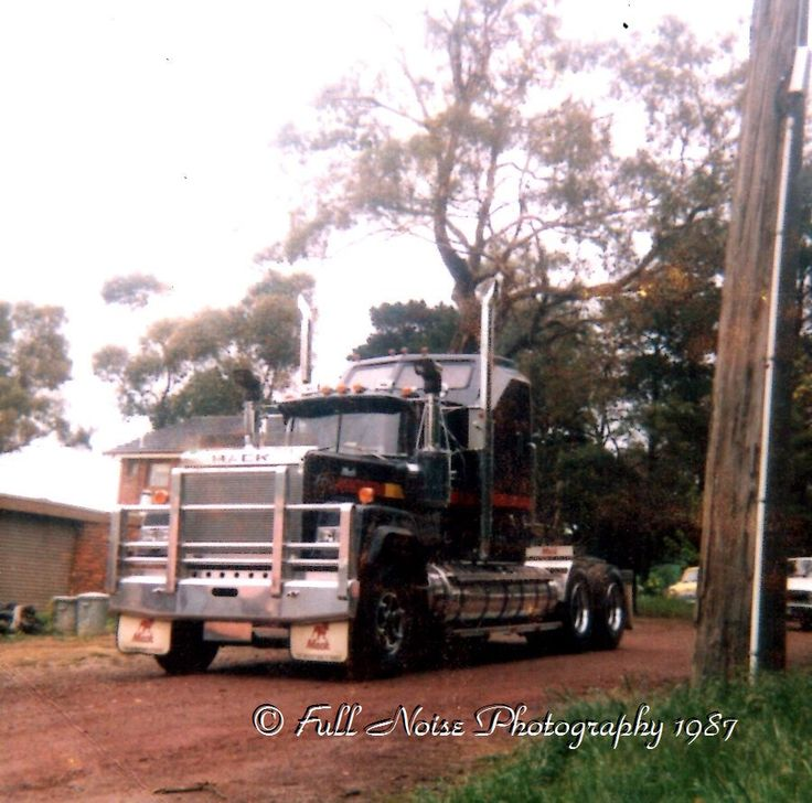 This truck was purchased by Jim Ristovichis and repainted silver and burgundy. The pic was taken outside my house in Viewbank before we took it to a truck show in Bairnsdale, 1987.