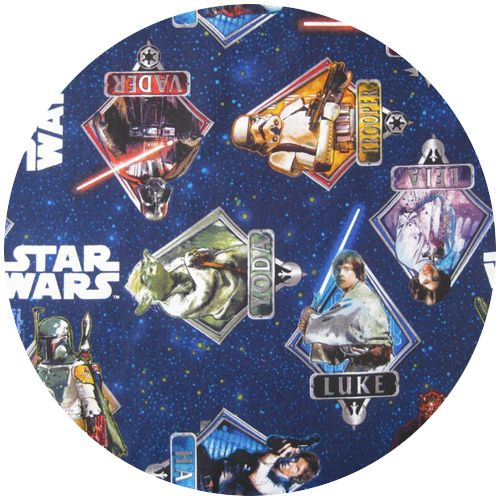 Star Wars Fabric, Character Quiz Blue