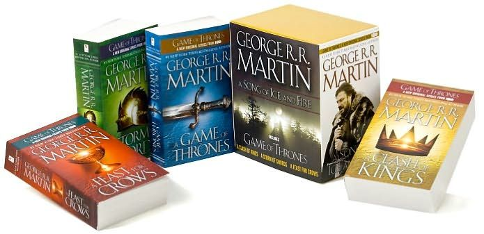 """A Song of Ice and Fire series by George R. R. Martin. The first book is """"A Game of Thrones""""."""