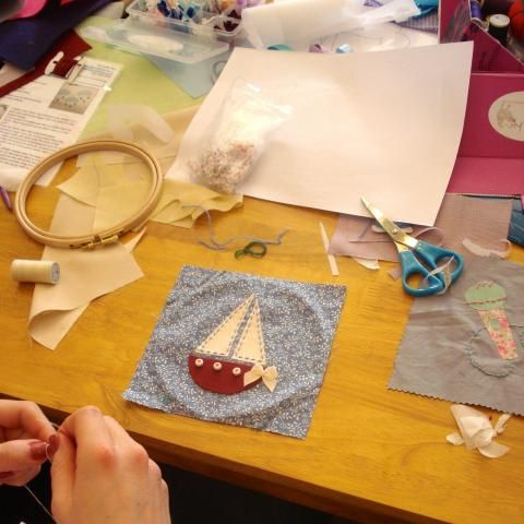 Seaside inspired Patchwork Quilt, Hen Party Activity, The Crafty Hen