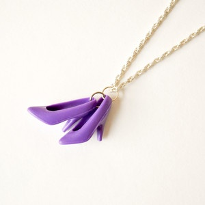 Barbie Heel Necklace Purple now featured on Fab.  Wish I would have thought of doing this before getting rid of all my totally rad Malibu Barbie family and accessories!!!