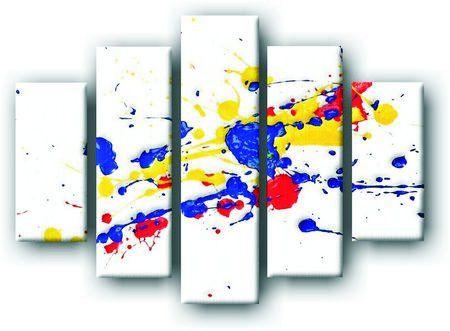 DeoArt24.pl Pięcioczęściowy obraz na płótnie zatytułowany Splash Paint.  Autorstwa: Kasia Biel Cena 299.00